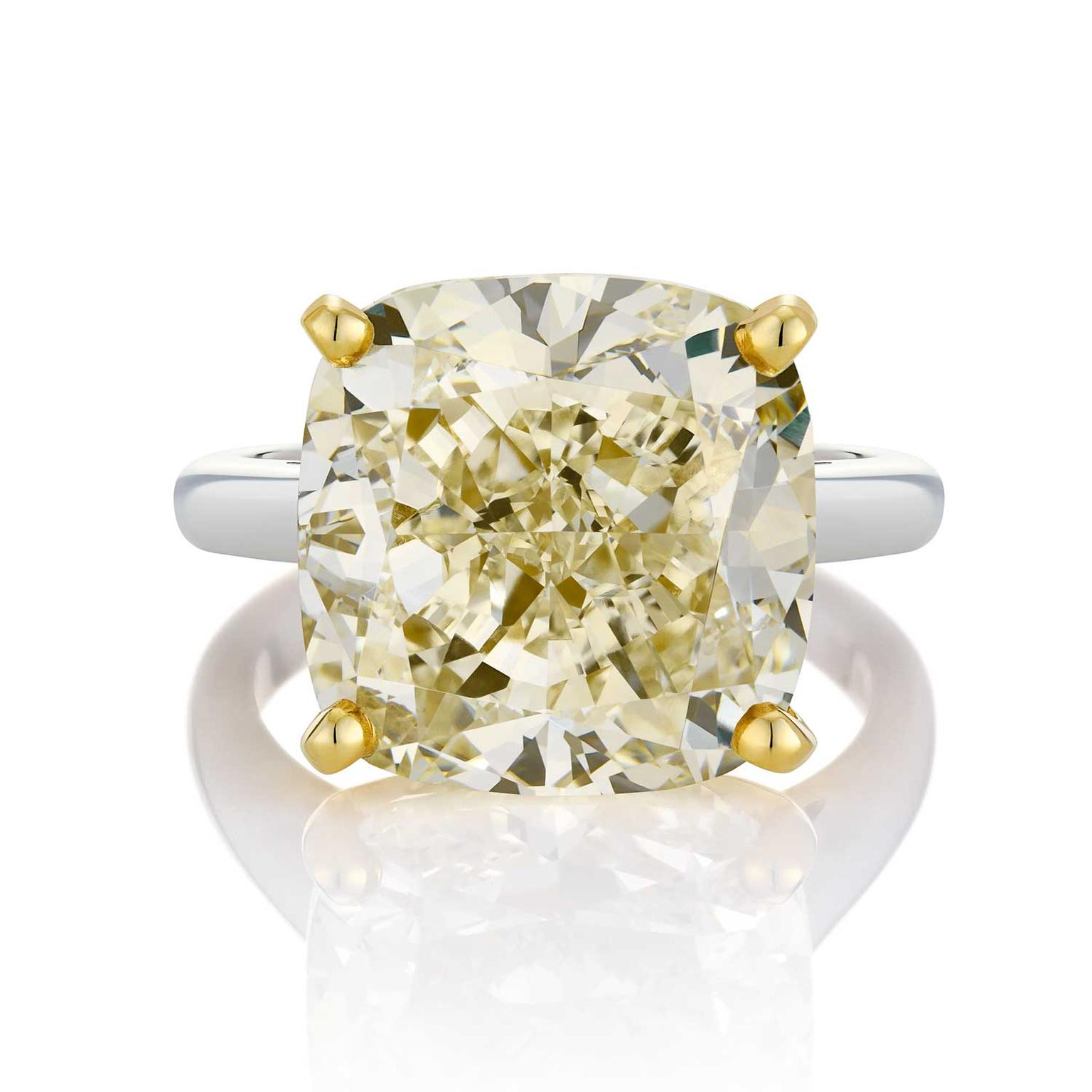 14.28ct cushion-cut X colour white diamond from De Beers 1888 Master Diamonds collection
