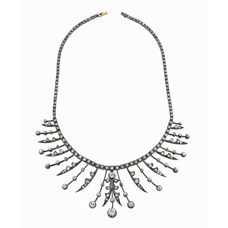 Doyle and Doyle Antique Diamond fringe necklace