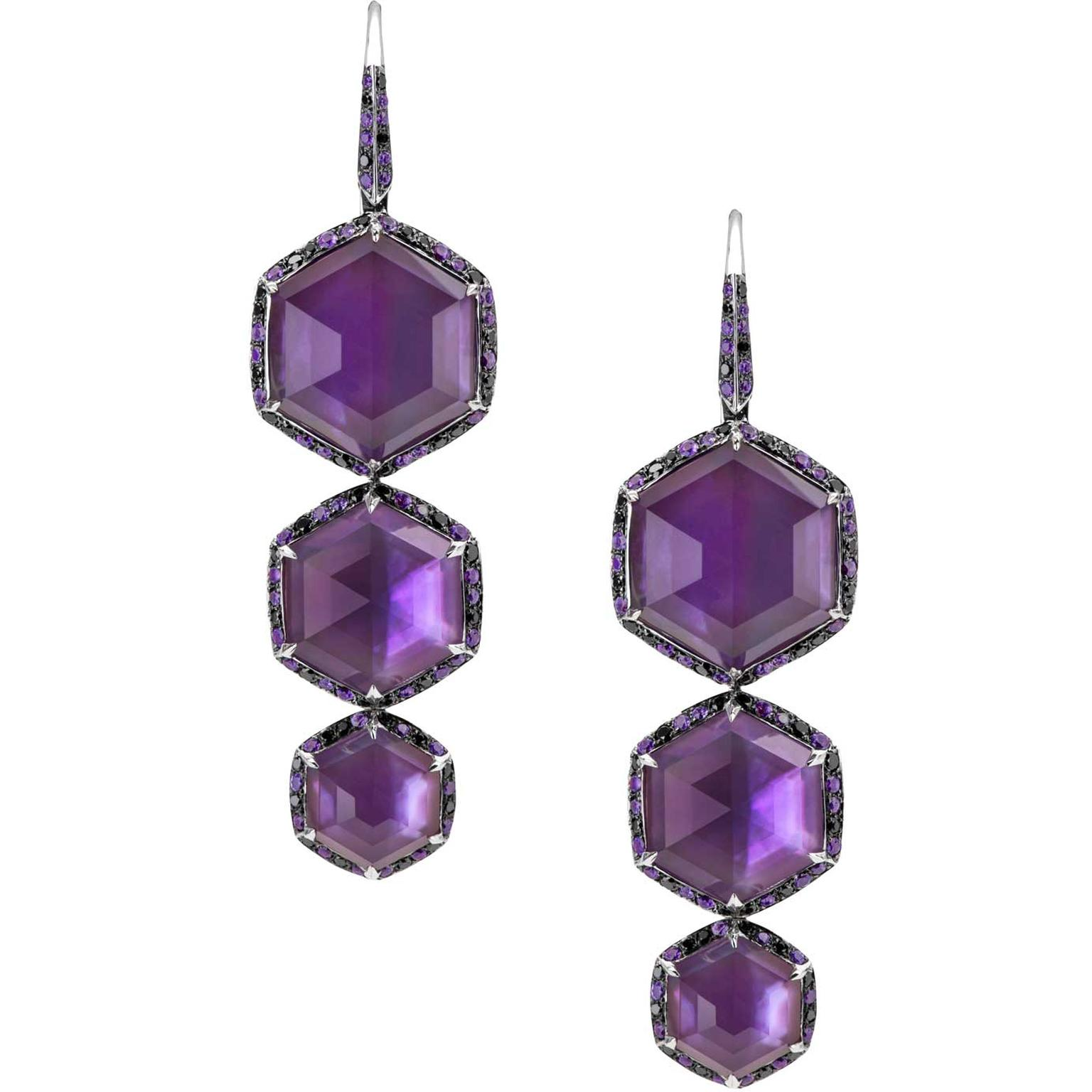 Stephen Webster amethyst drop earrings