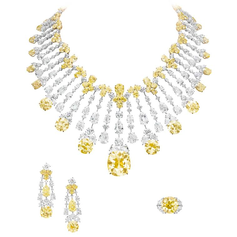 Boghossian Important Fancy yellow diamond necklace