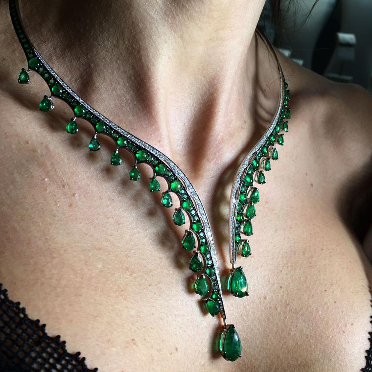 Legends of Africa Gemfields emerald choker