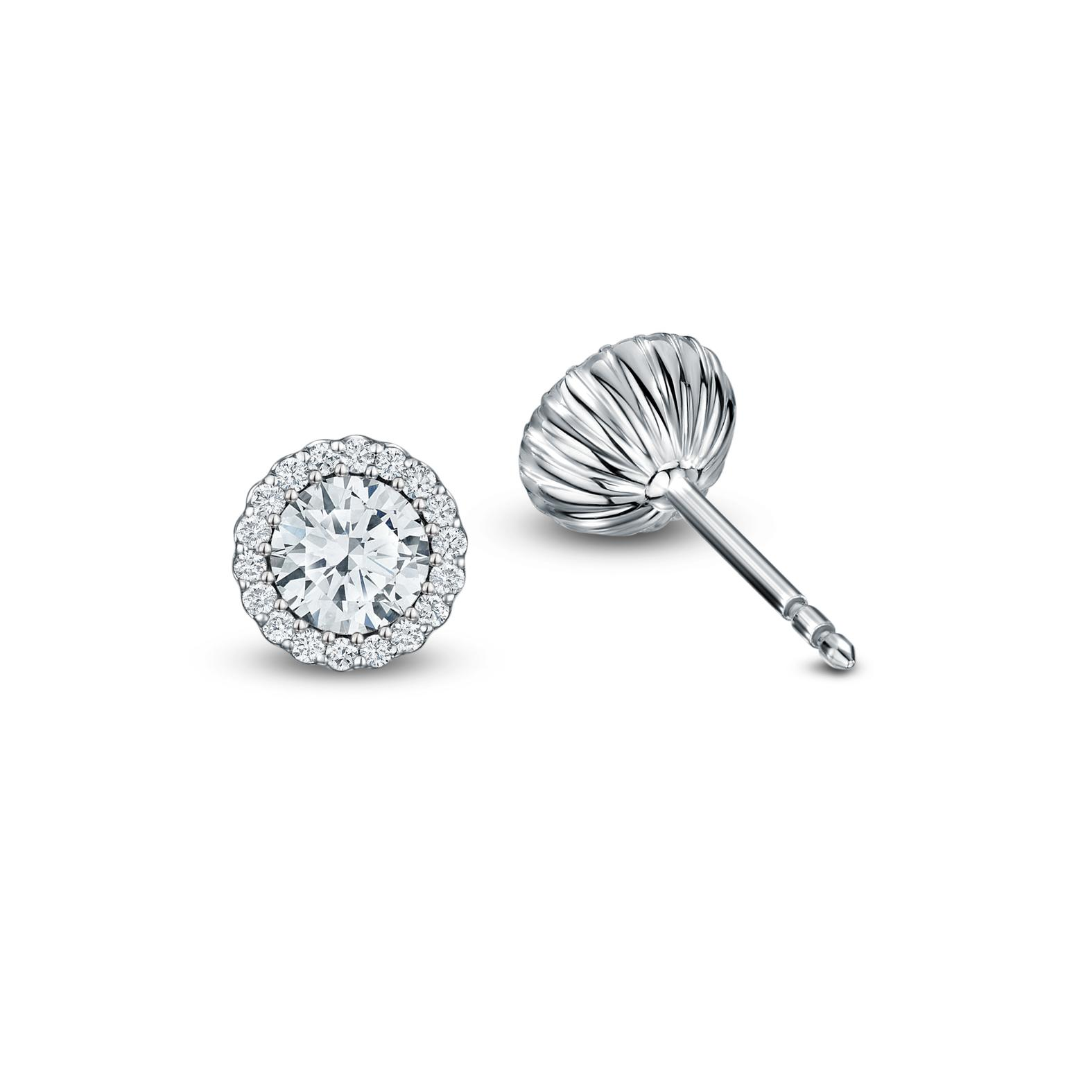 Andrew Geoghegan Cannelé diamond earrings