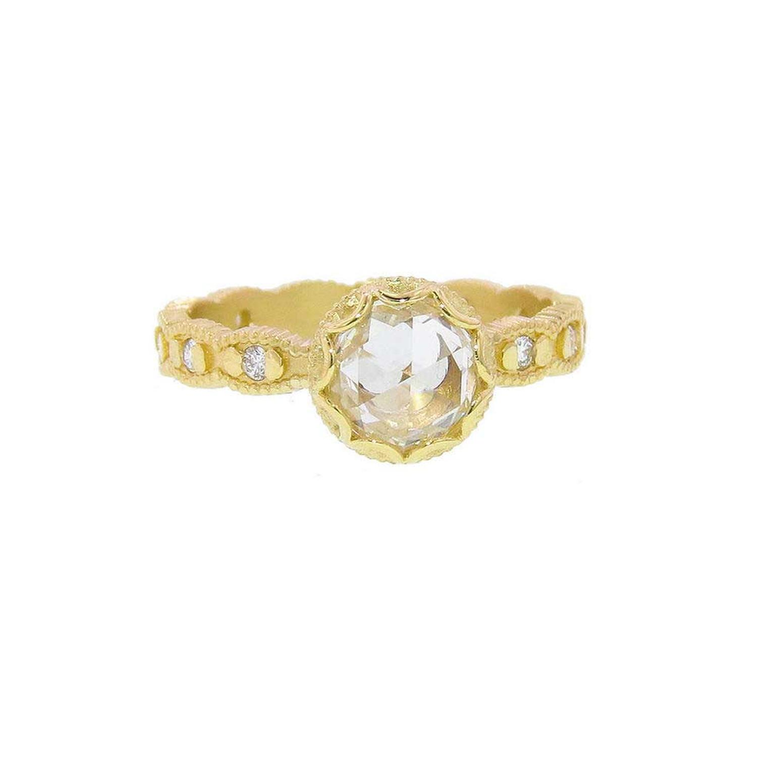Megan Thorne scalloped rose-cut ring