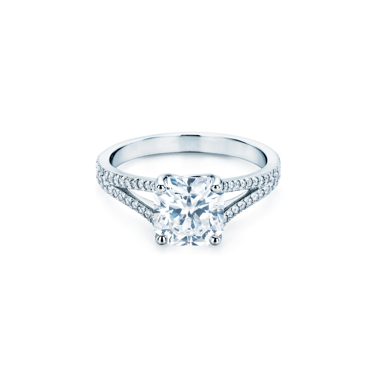 gold rose cushion halo ring engagement b diamond rings love forevermark of carat point products square