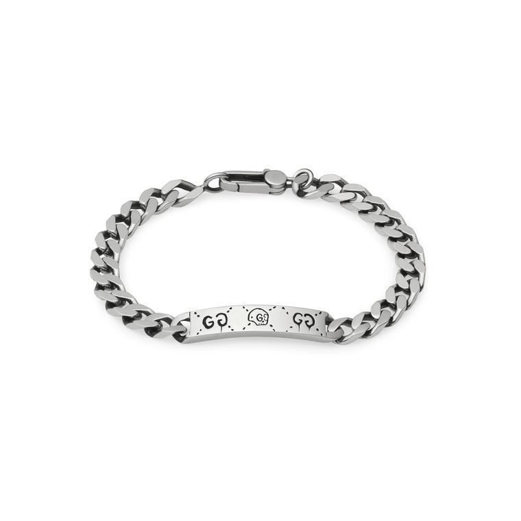 GucciGhost chain bracelet in silver