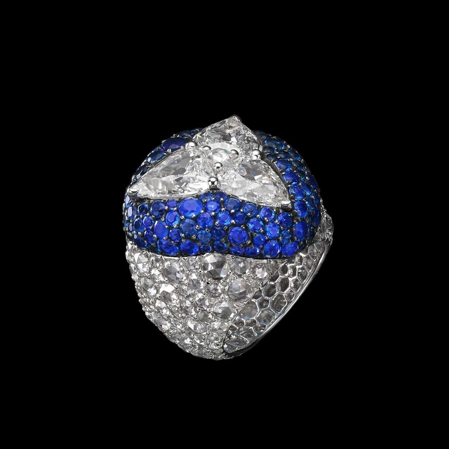 Carnet Diamond and Huaynite ring