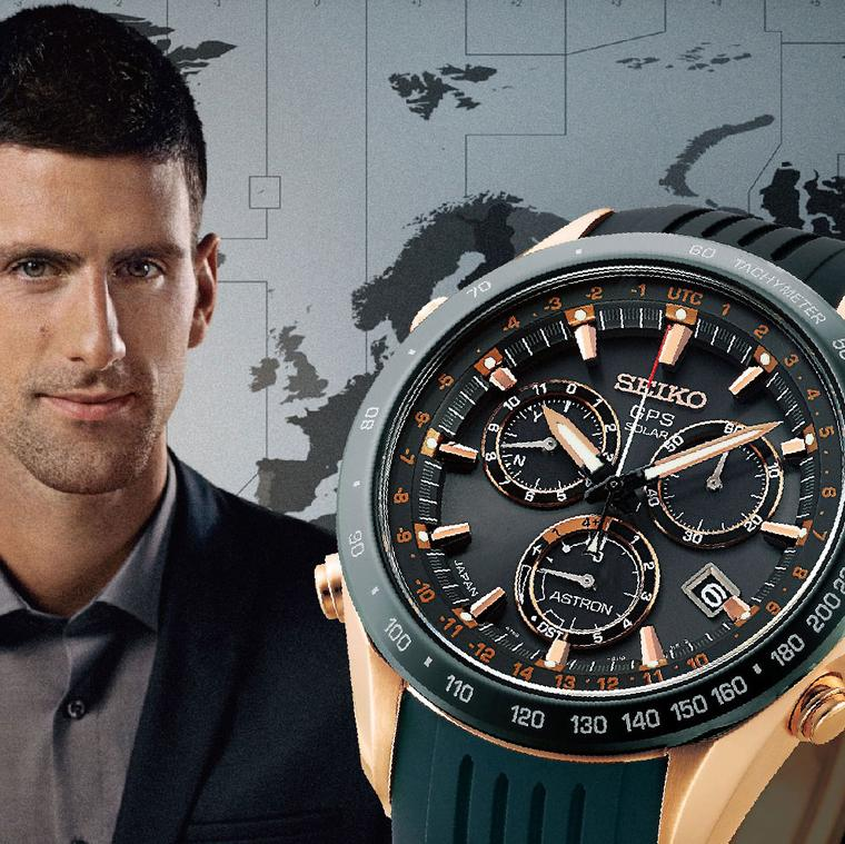 Seiko Astron Solar GPS watch and Novak Djokovic