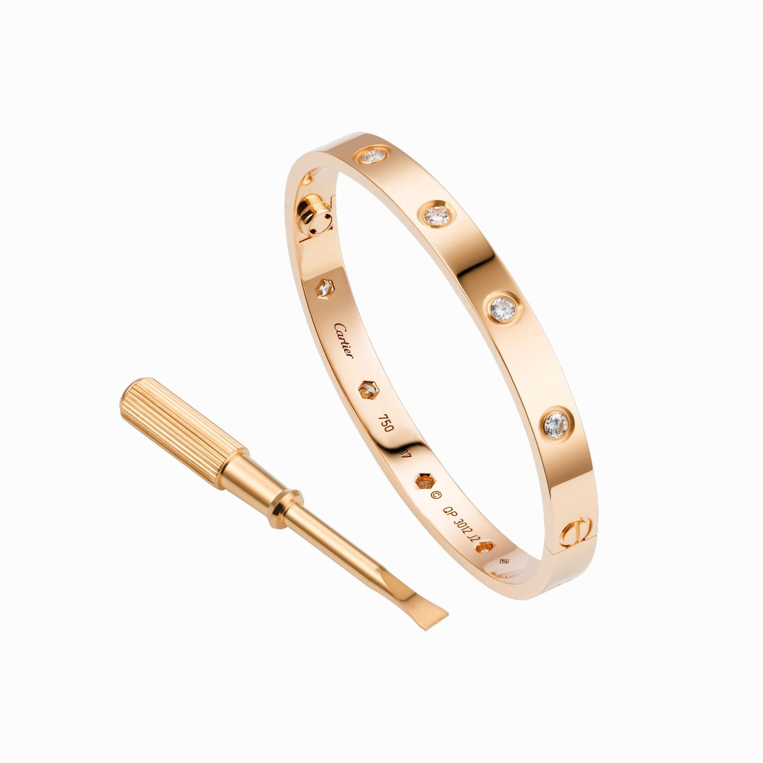 Cartier Love Bracelet with diamonds and screwdriver