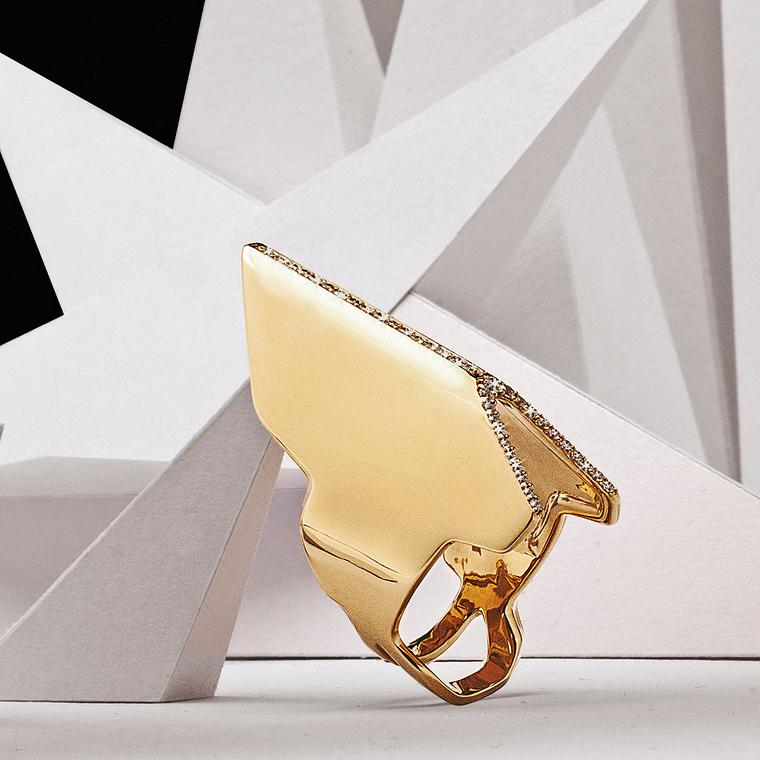 Yunus & Eliza Invincible 18ct gold ring with white diamonds