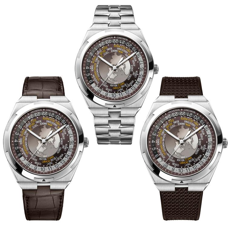 Vacheron Constantin Overseas watches with stainless steel, alligator and rubber strap