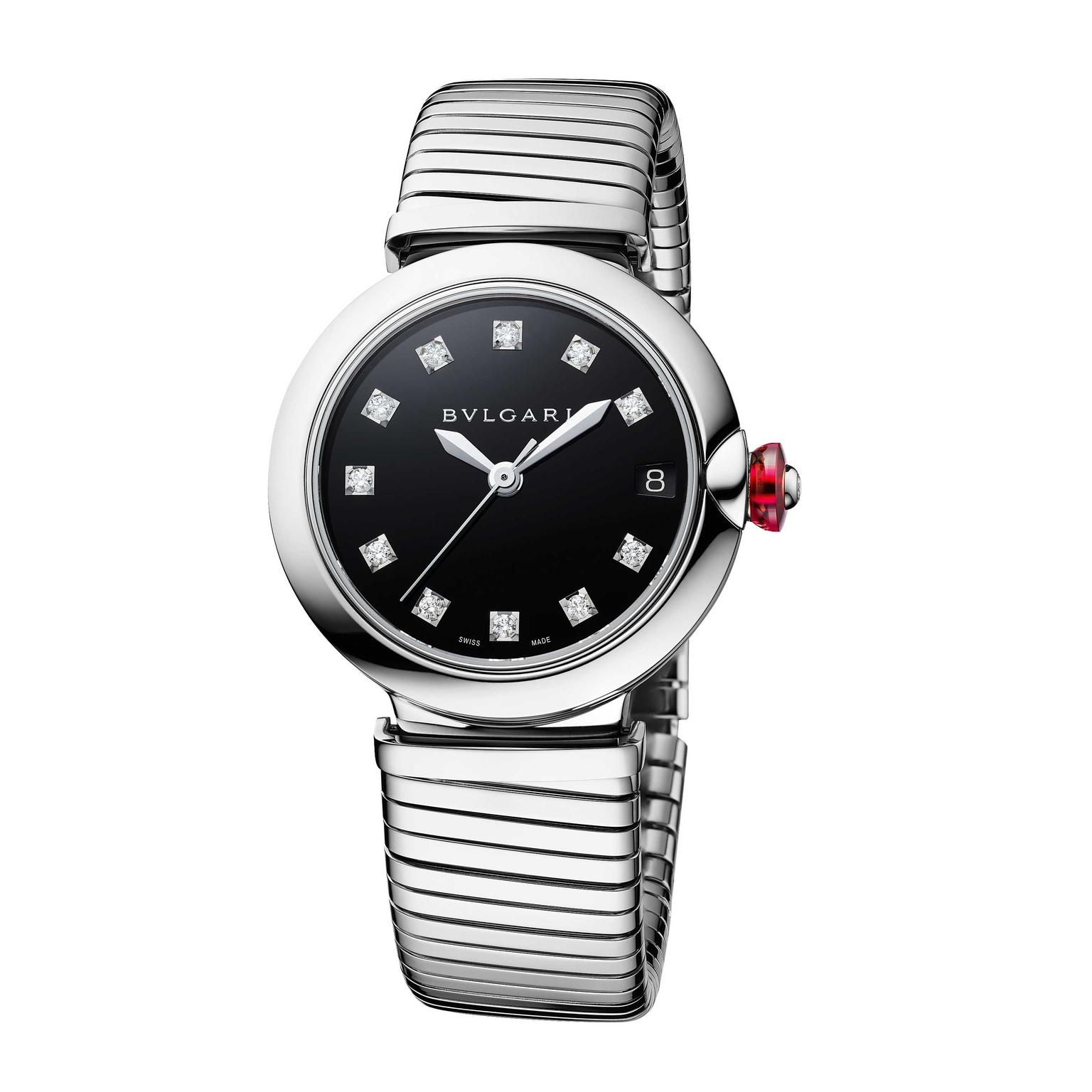 Bulgari Lvcea Tubogas 33mm stainless steel automatic women's watch 2018