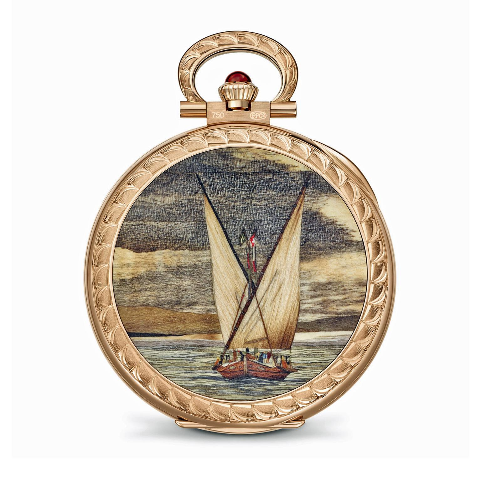 Patek Philippe Lateen Sails marquetry and hand engraving