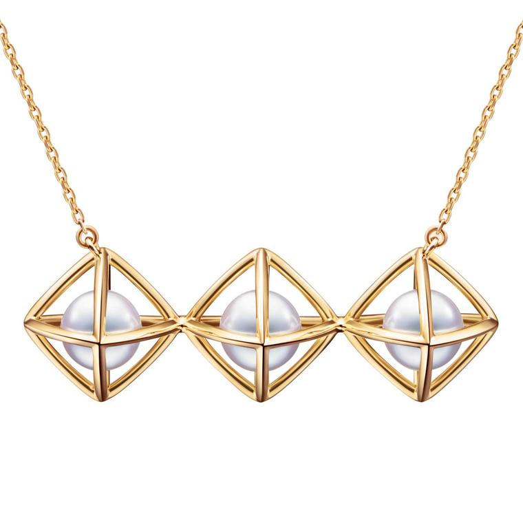 Tasaki Refined Rebellion Akoya pearl and gold necklace