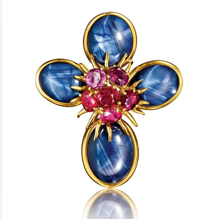Verdura Dogwood pendant and brooch Masterpiece
