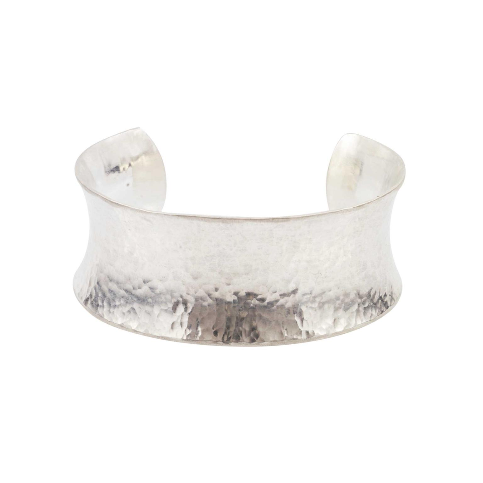 Gurhan Hourglass Hammered Sterling Silver Concave Cuff