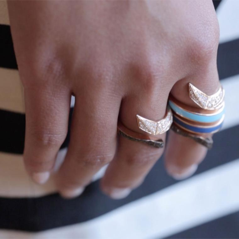 Octium Twist Collection rings