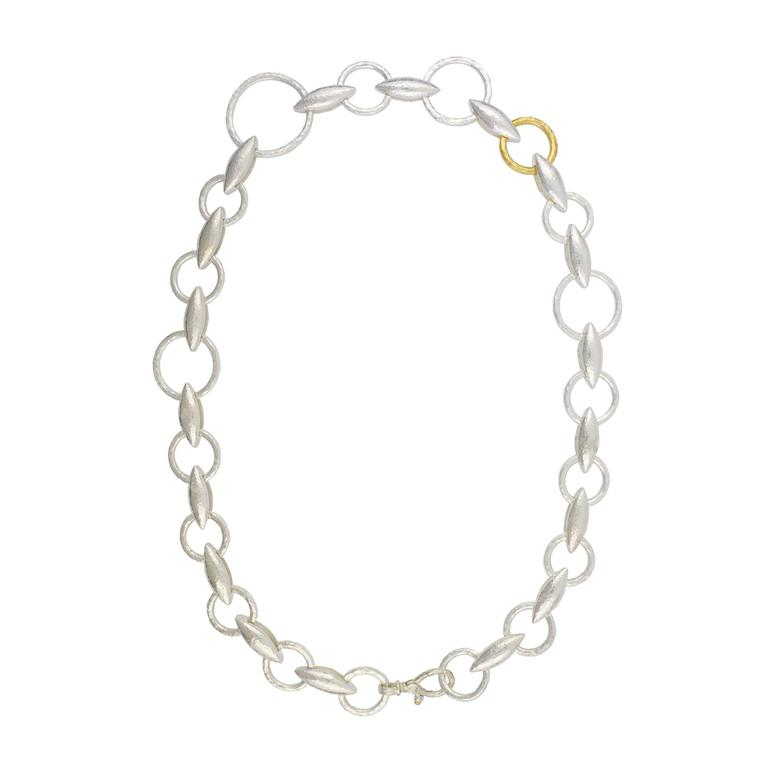 Gurhan Wheatla All Around Necklace in Sterling Silver Layered with 24ct Gold