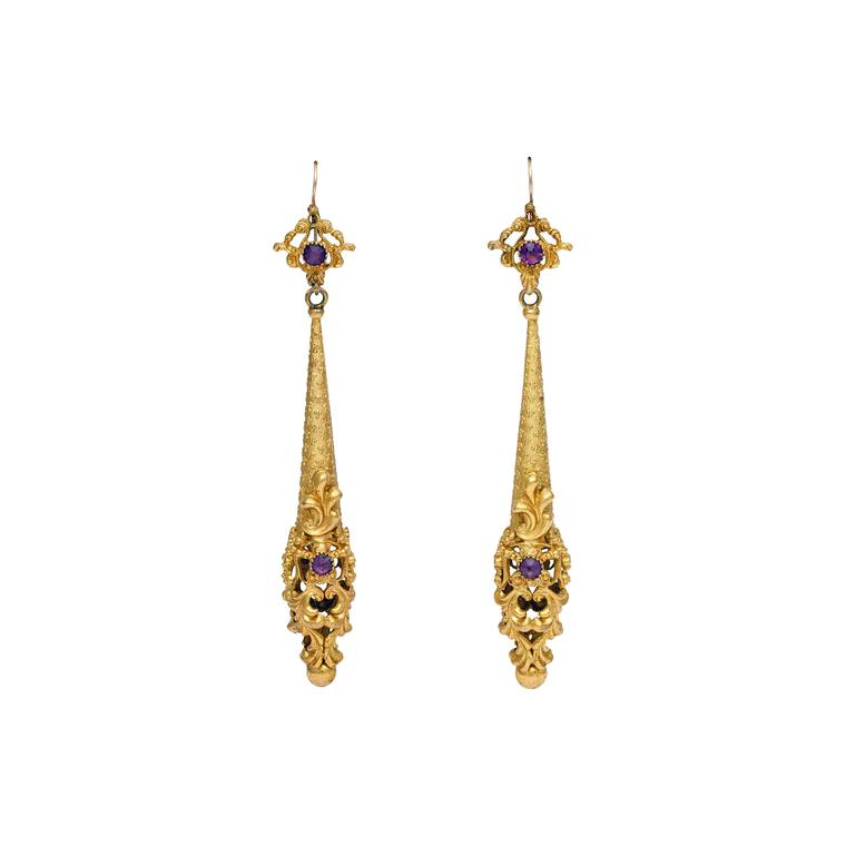 Glorious Antique Jewelry torpedo earrings