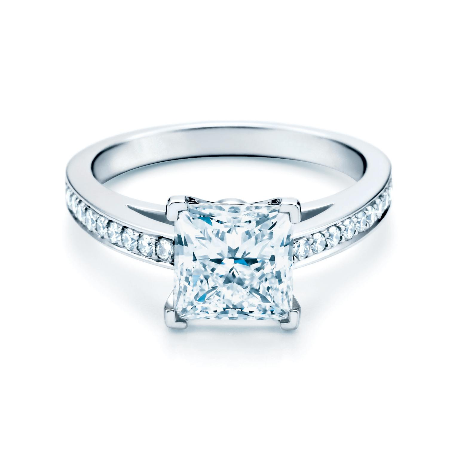 Tiffany Weddings Rings Grace Princess Cut Diamond Engagement Ring Tiffany Co