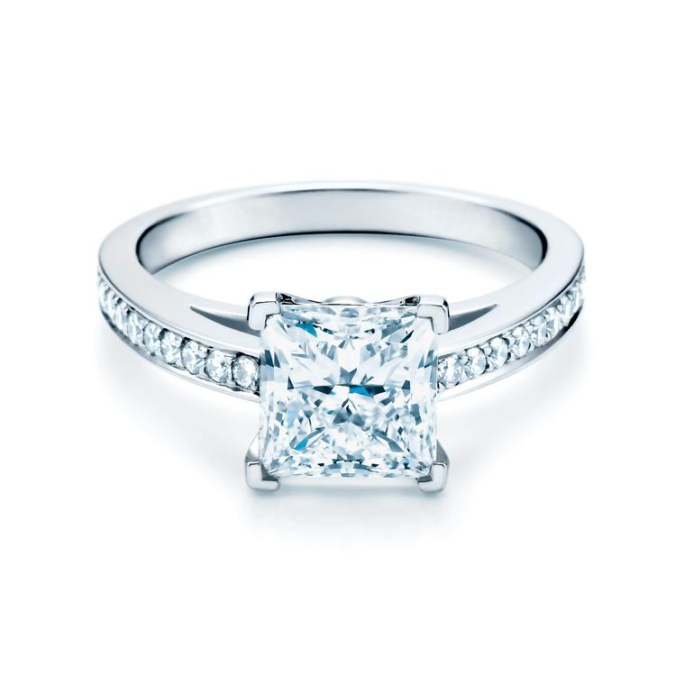 Grace princess cut diamond engagement ring