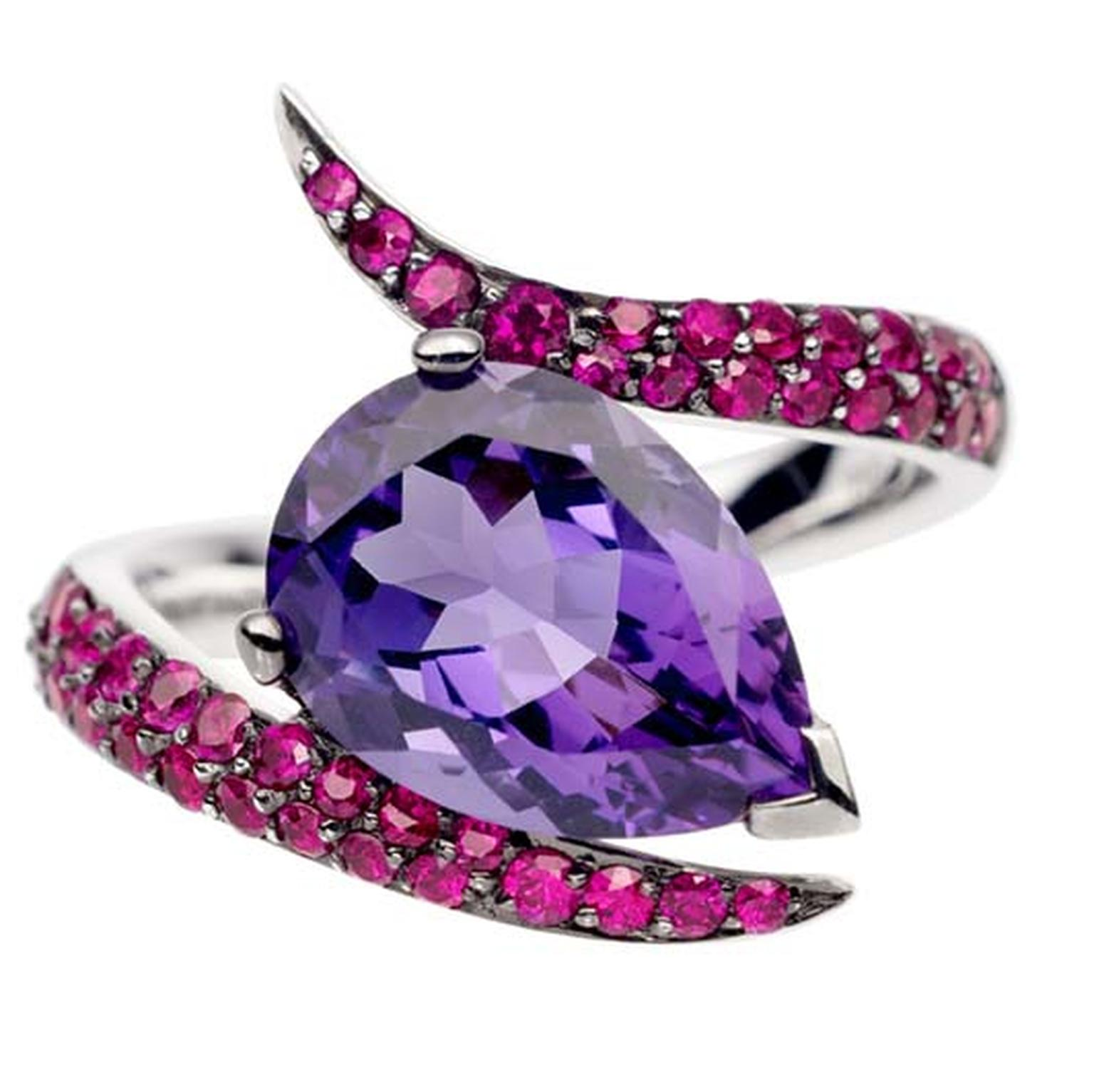 Shaun Leane Aurora amethyst and ruby ring