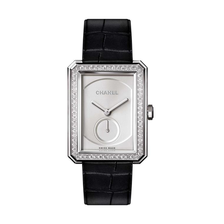Chanel Boy.Friend watch in white gold