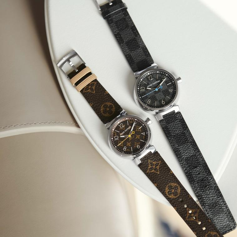 Louis Vuitton Icon Tambour Monogram and Damier Graphite watches
