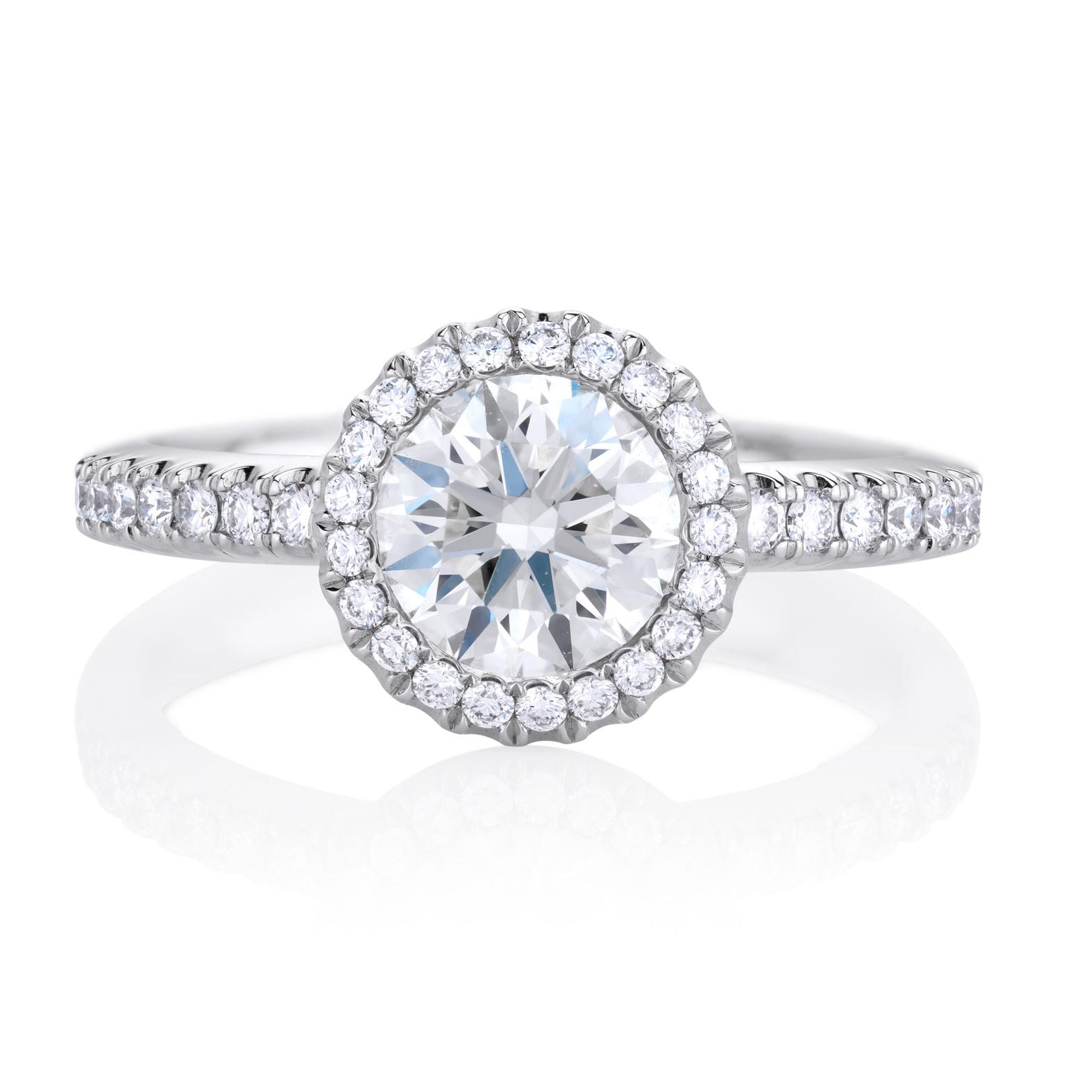 Aura 1ct diamond engagement ring in platinum | De Beers | The ...