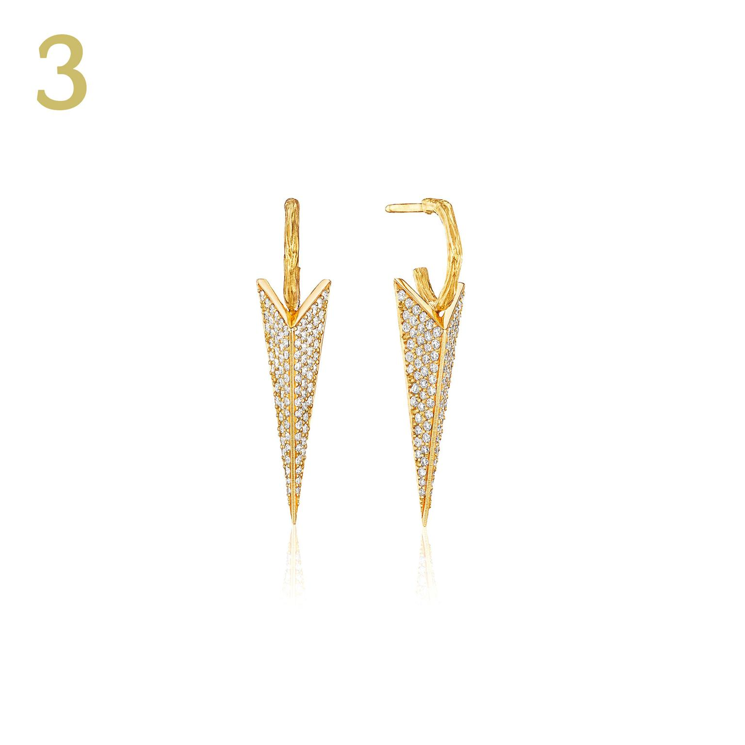 Mimi So Wonderland pavé diamond earrings