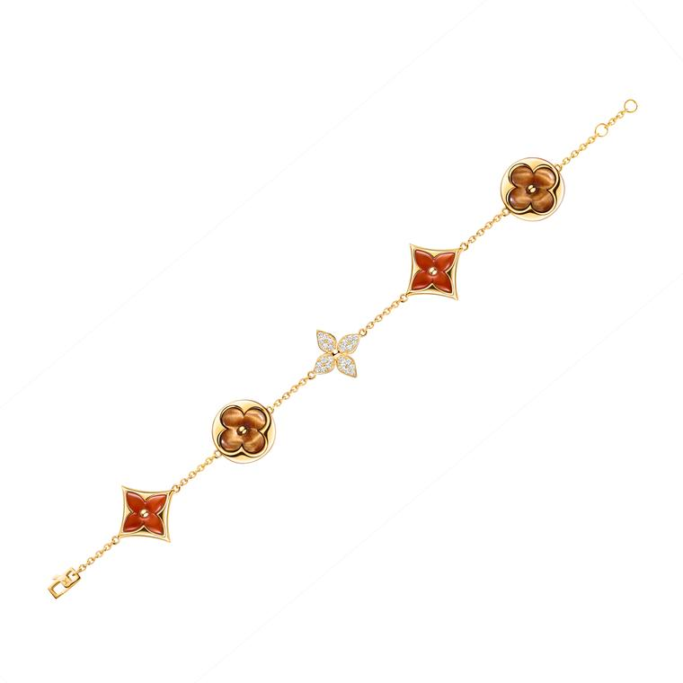 Blossom tiger's eye and carnelian bracelet