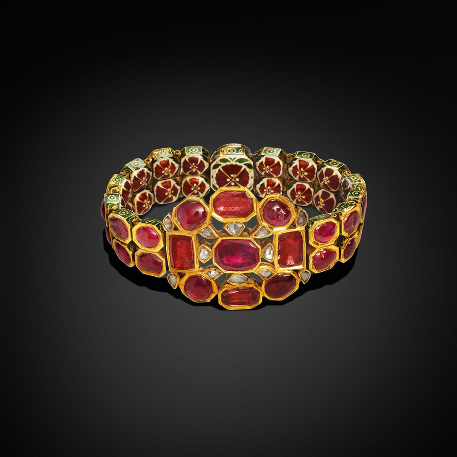 Al Thani Exhibition ruby and diamond bracelet
