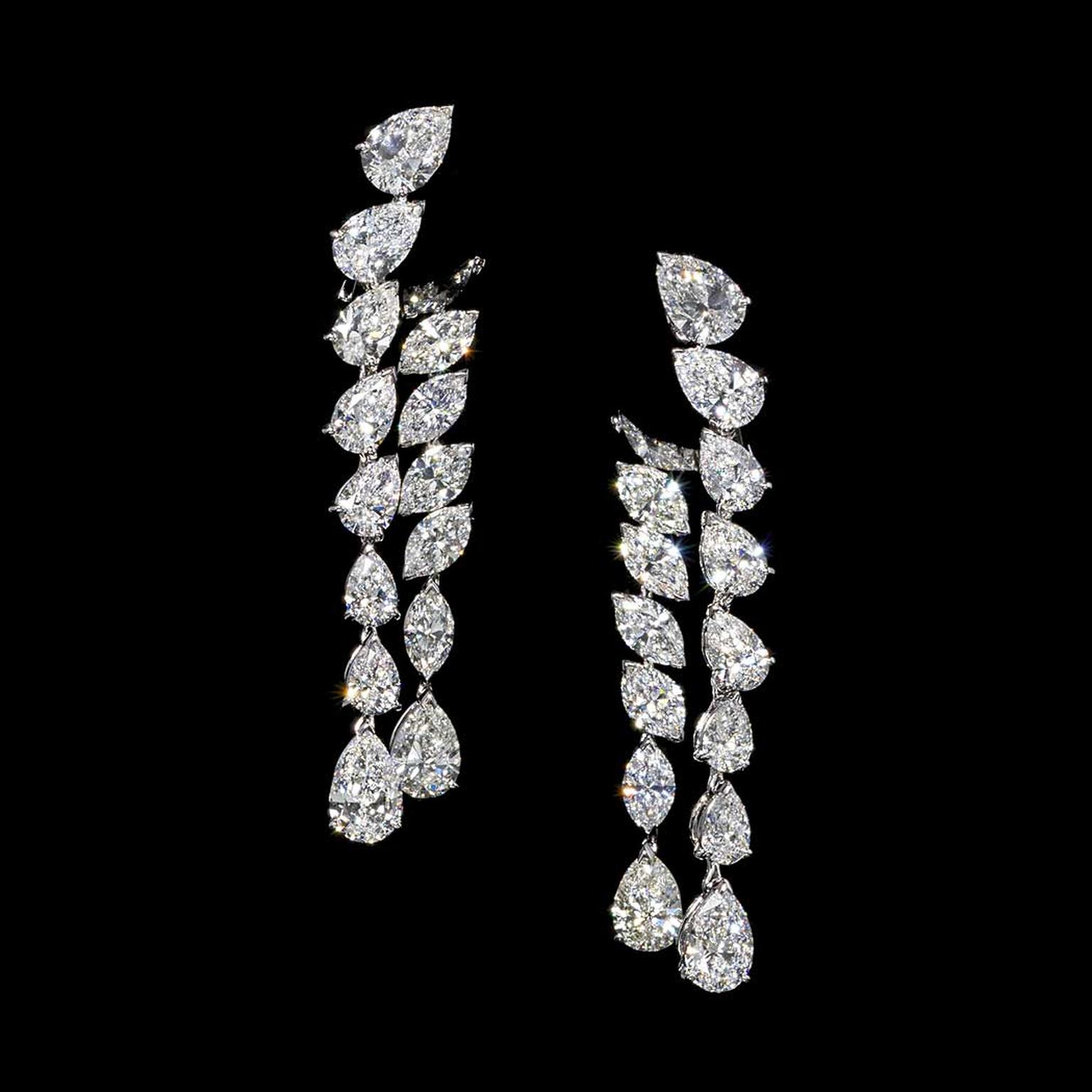 Jahan pear and marquise diamond earrings