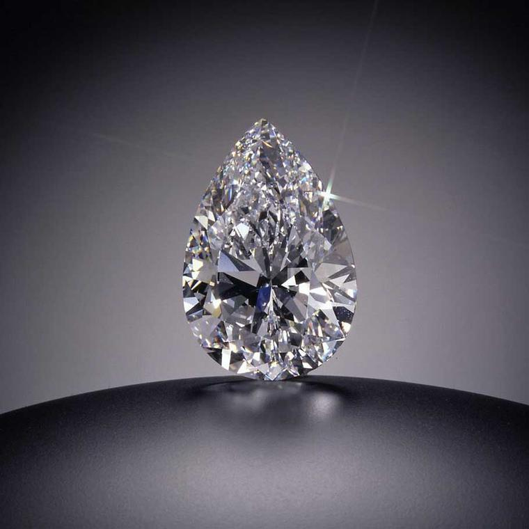 The 101.10-carat Star of the Season pear-shaped diamond DIF sold at Sotheby's Geneva in 1995 for US$ 16.4 million or US$164.223 per carat.