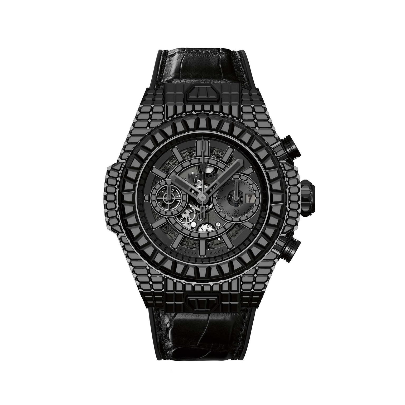 Hublot Big Bang 10 Year HJ black diamonds