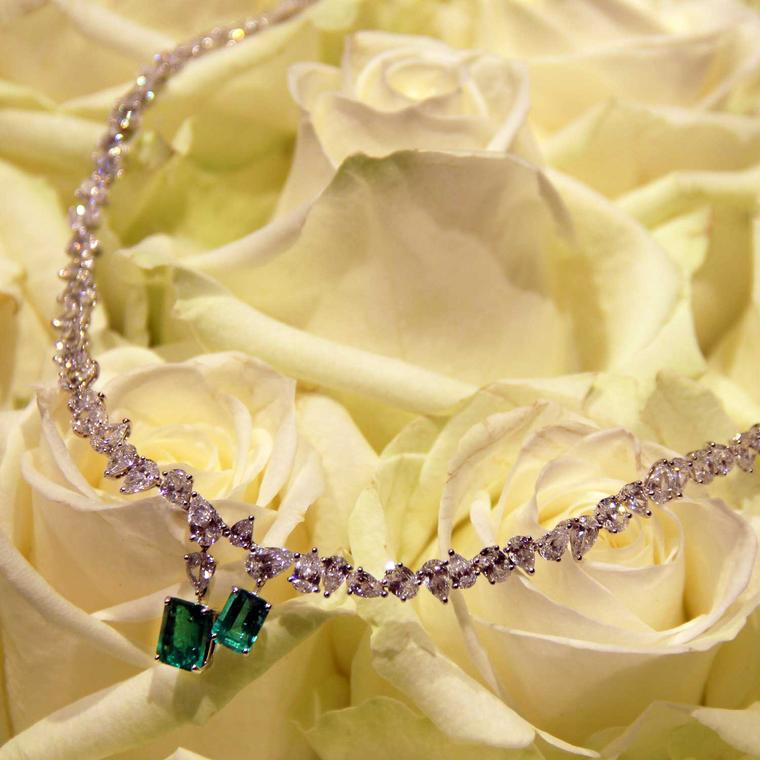 William & Son MYA emerald and diamond necklace