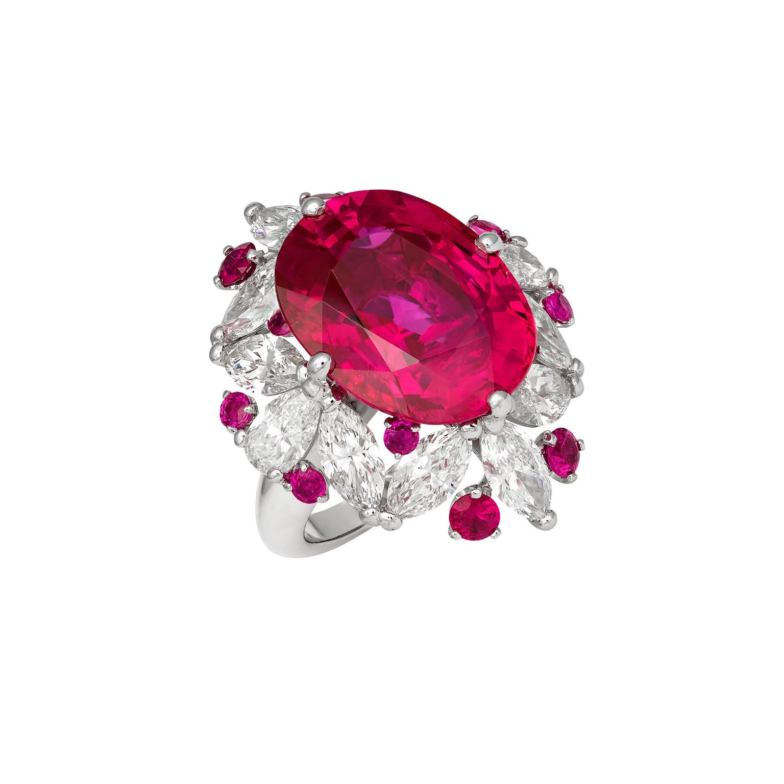 David Morris Sunset ruby ring