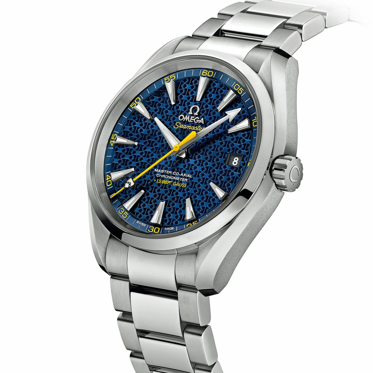 New James Bond watch debuting in Sceptre: the Omega Seamaster Aqua Terra 150M