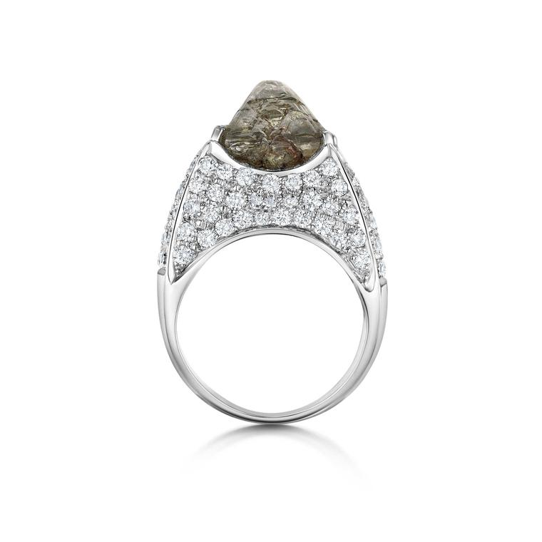 Saqqara Iceberg engagement ring with diamonds