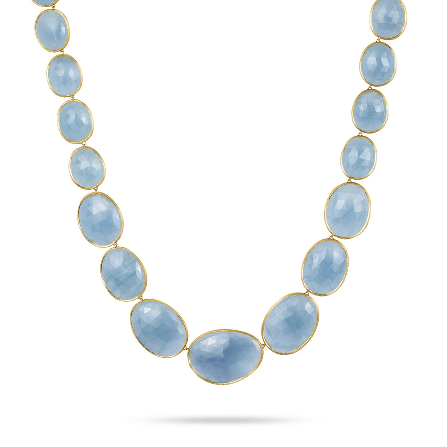 Marco Bicego Lunaria aquamarine necklace