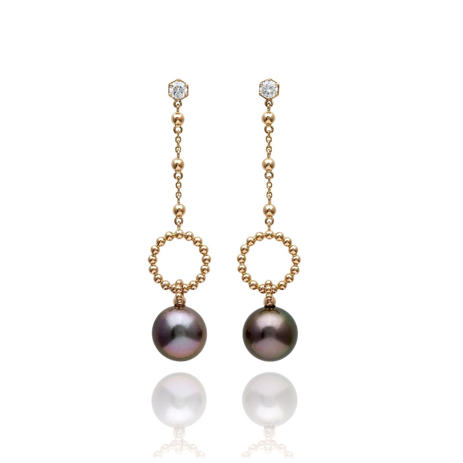 Boodles Tahitian pearl earrings