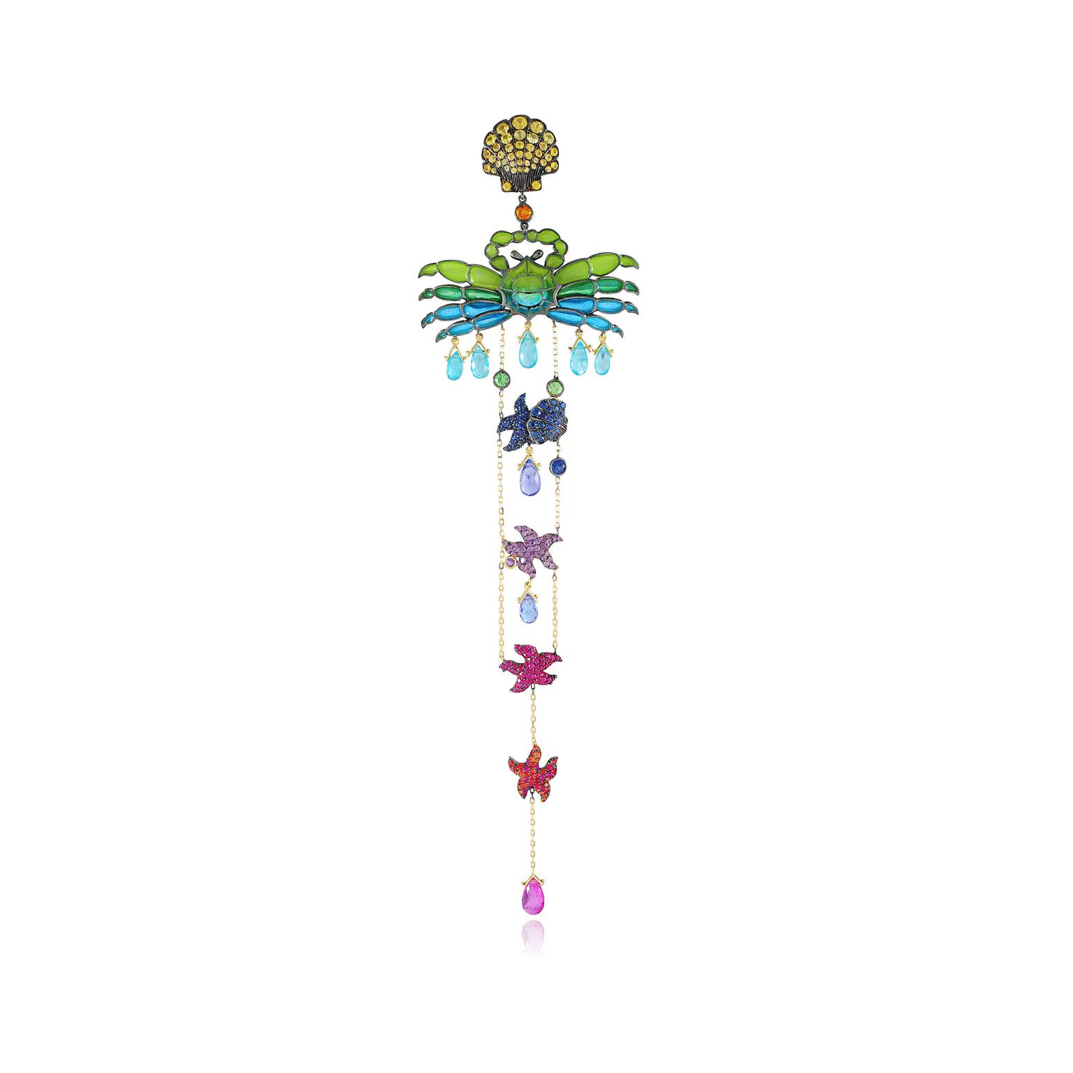 Lydia Courteille Kite collection  single earring