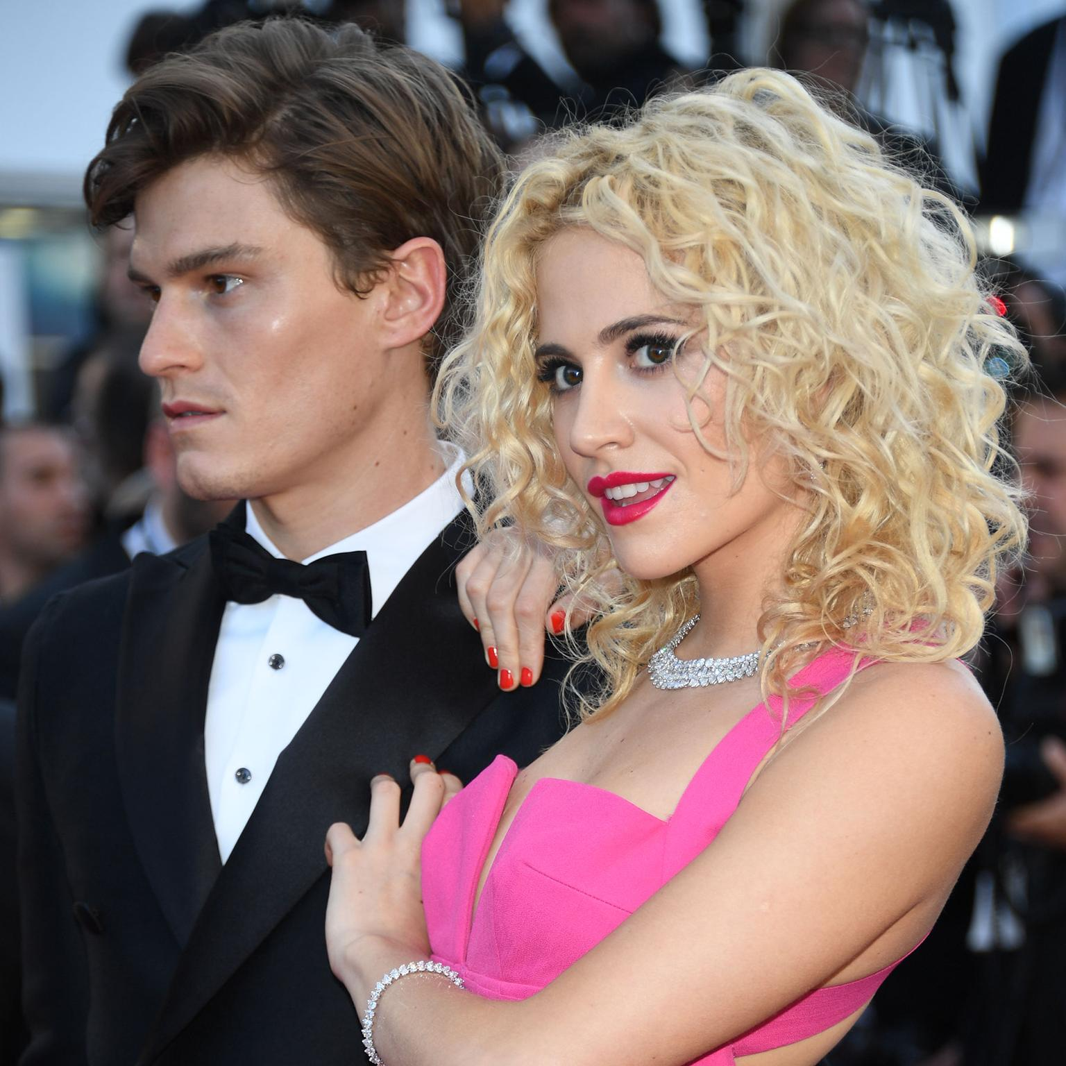 Cannes 2016 Day 5: Oliver Cheshire and Pixie Lott in Chopard