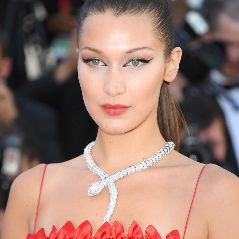 Bella Hadid in Bulgari necklace Cannes 2017