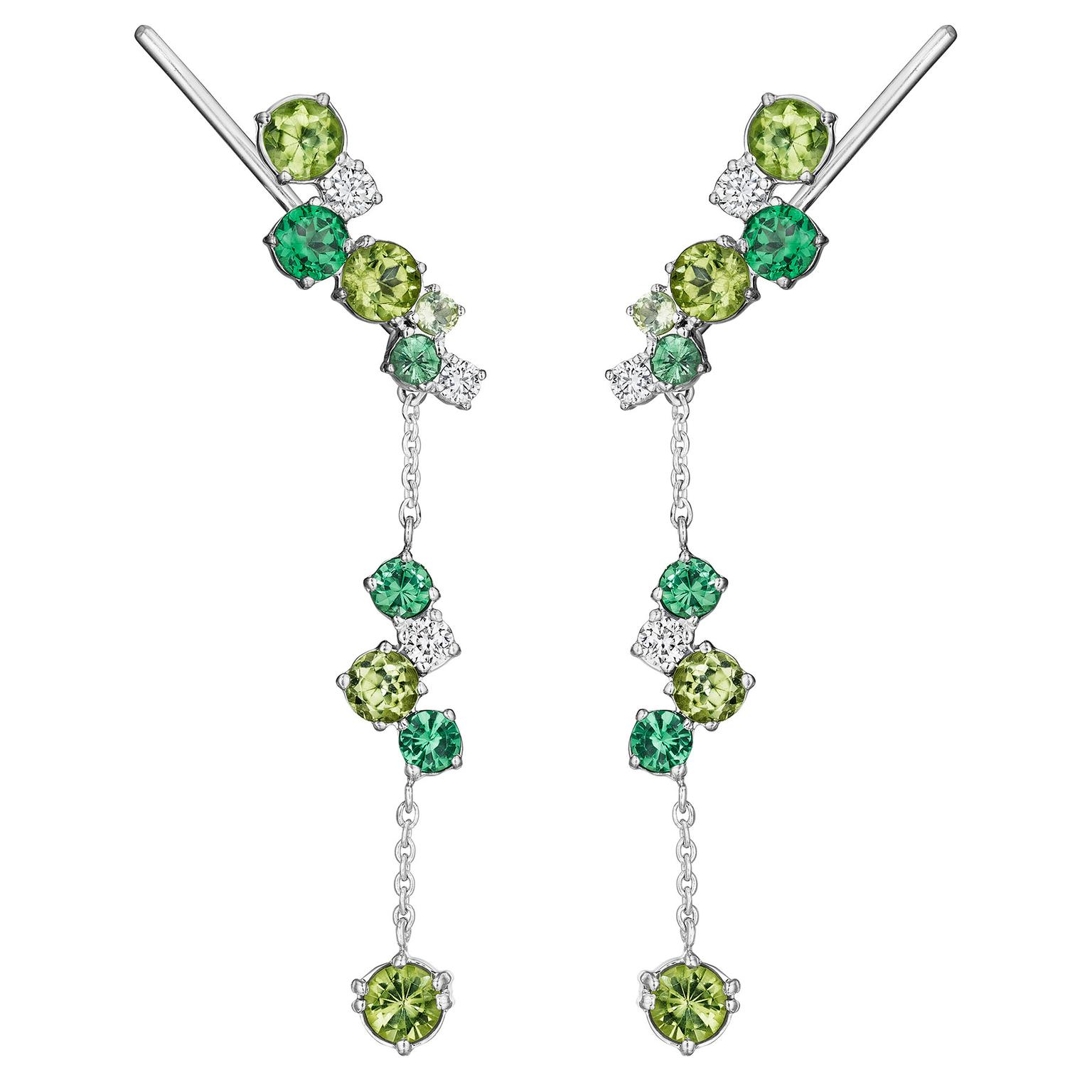 Madstone Design tsavorite and peridot earrings