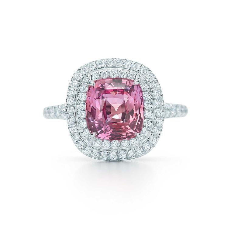 Tiffany Soleste Padparadscha sapphire ring
