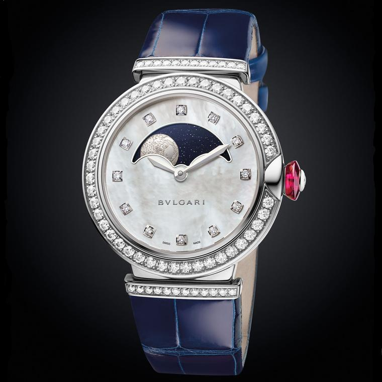 Bulgari LVCEA 2017 Moon Phases watch in white gold