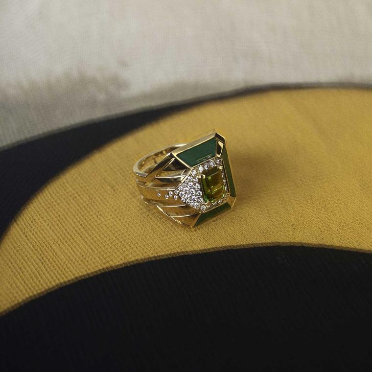 Chanel Gallery My Green tourmaline ring