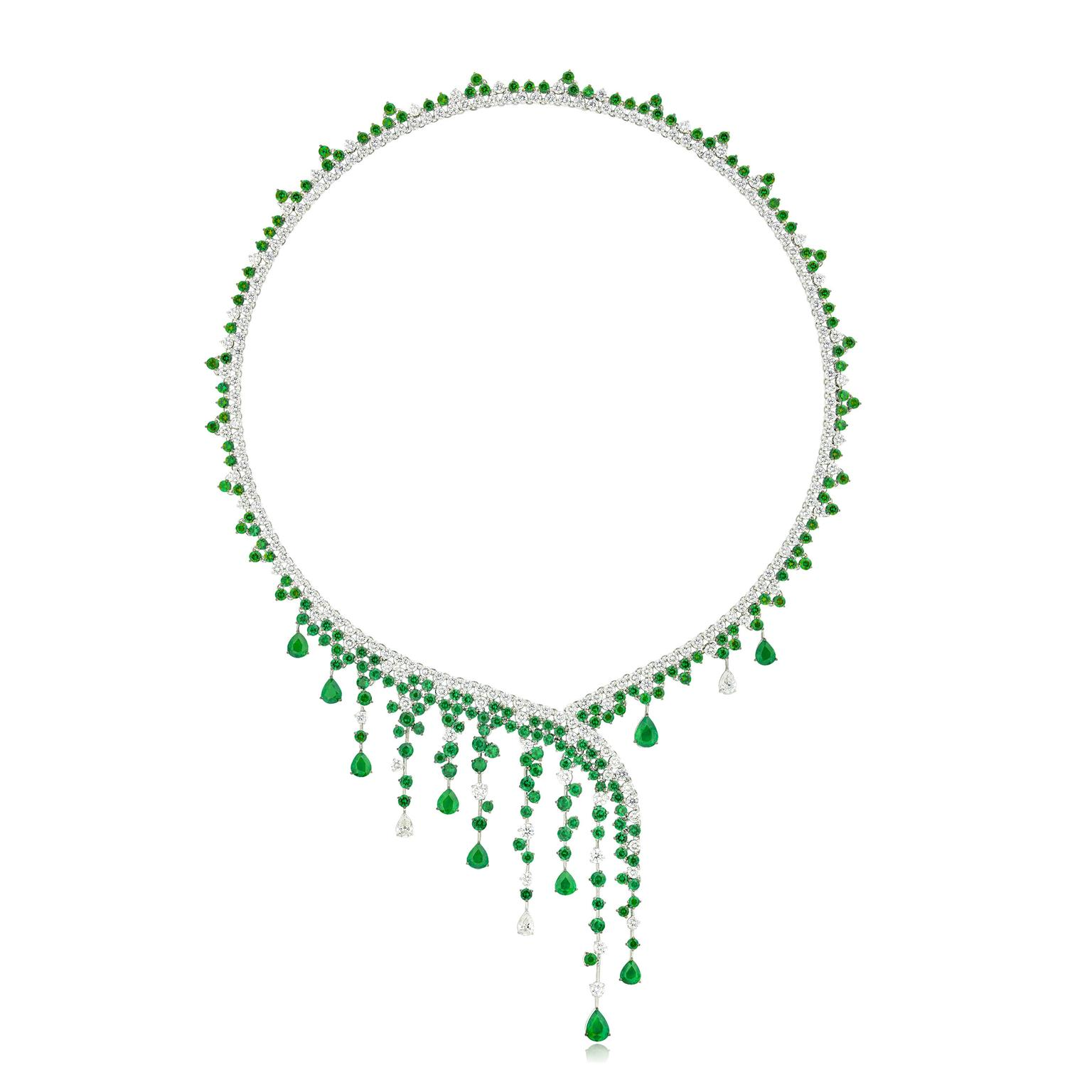 Stenzhorn Diana emerald and diamond necklace