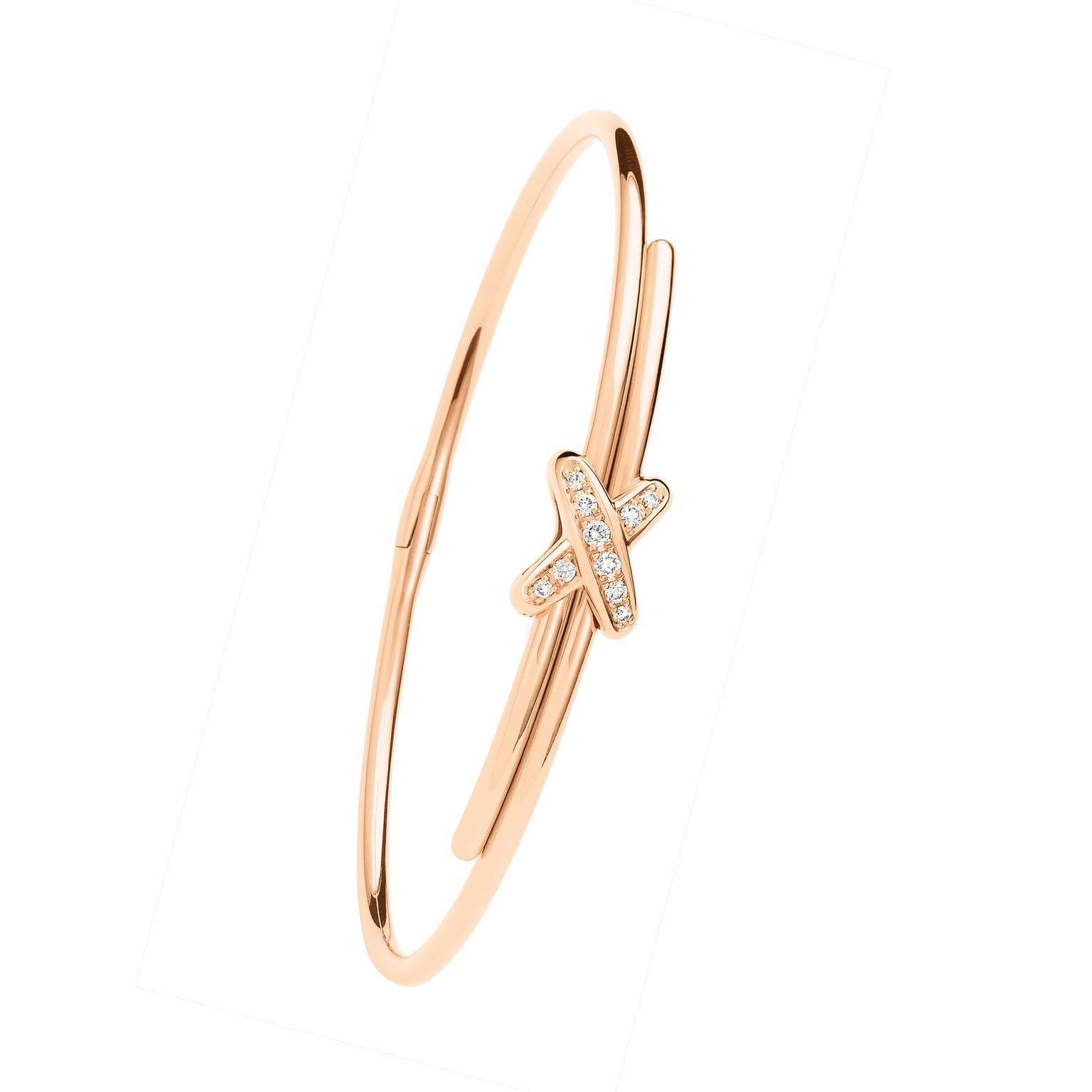 Chaumet Liens rose gold and diamond bracelet