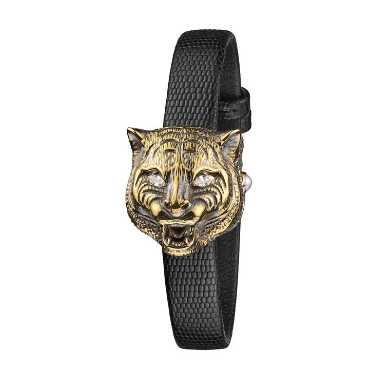 Le Marché des Merveilles tiger watch in yellow gold